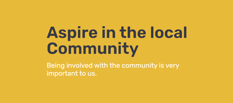 Aspire To Move in the local community